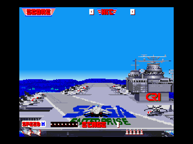 After Burner II FM Towns The aircraft is deployed