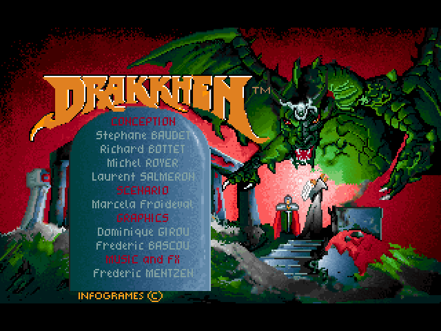 Drakkhen FM Towns Title screen
