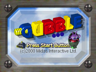 Gubble PlayStation Title screen