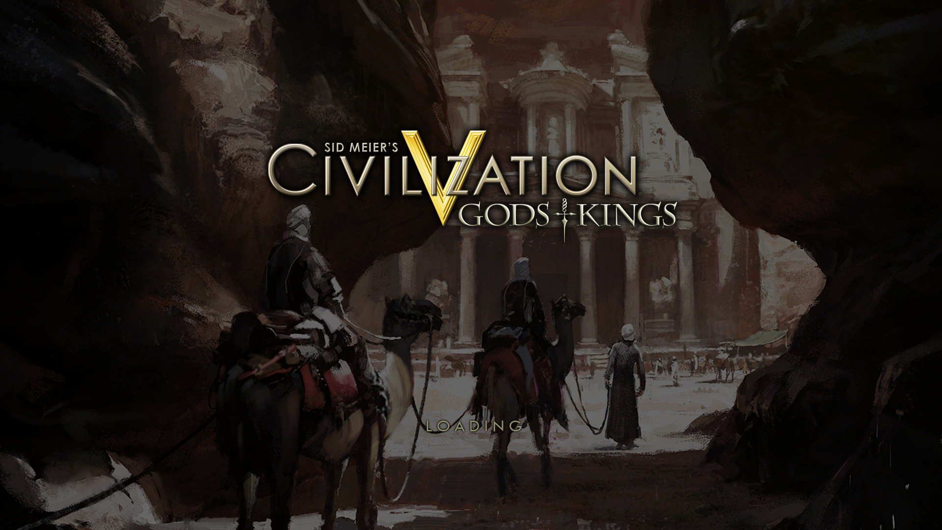 Sid Meier's Civilization V: Gods and Kings Windows Title screen