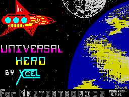 Universal Hero ZX Spectrum Loading screen.