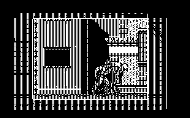 Batman: The Caped Crusader DOS Batman punches a strange guy (CGA)