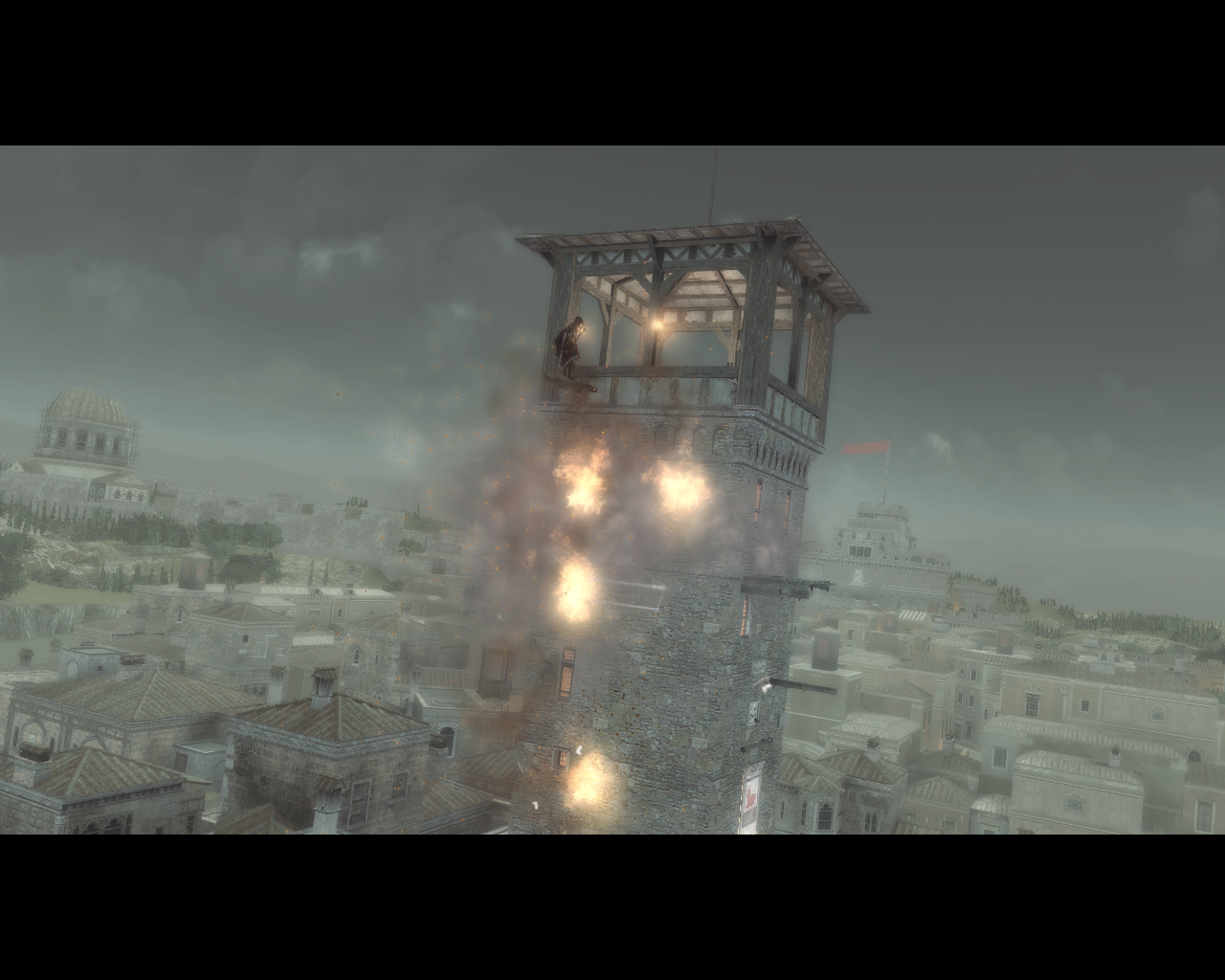 Assassin's Creed: Brotherhood Windows Burning down the towers to diminish Borgia's influence over Rome
