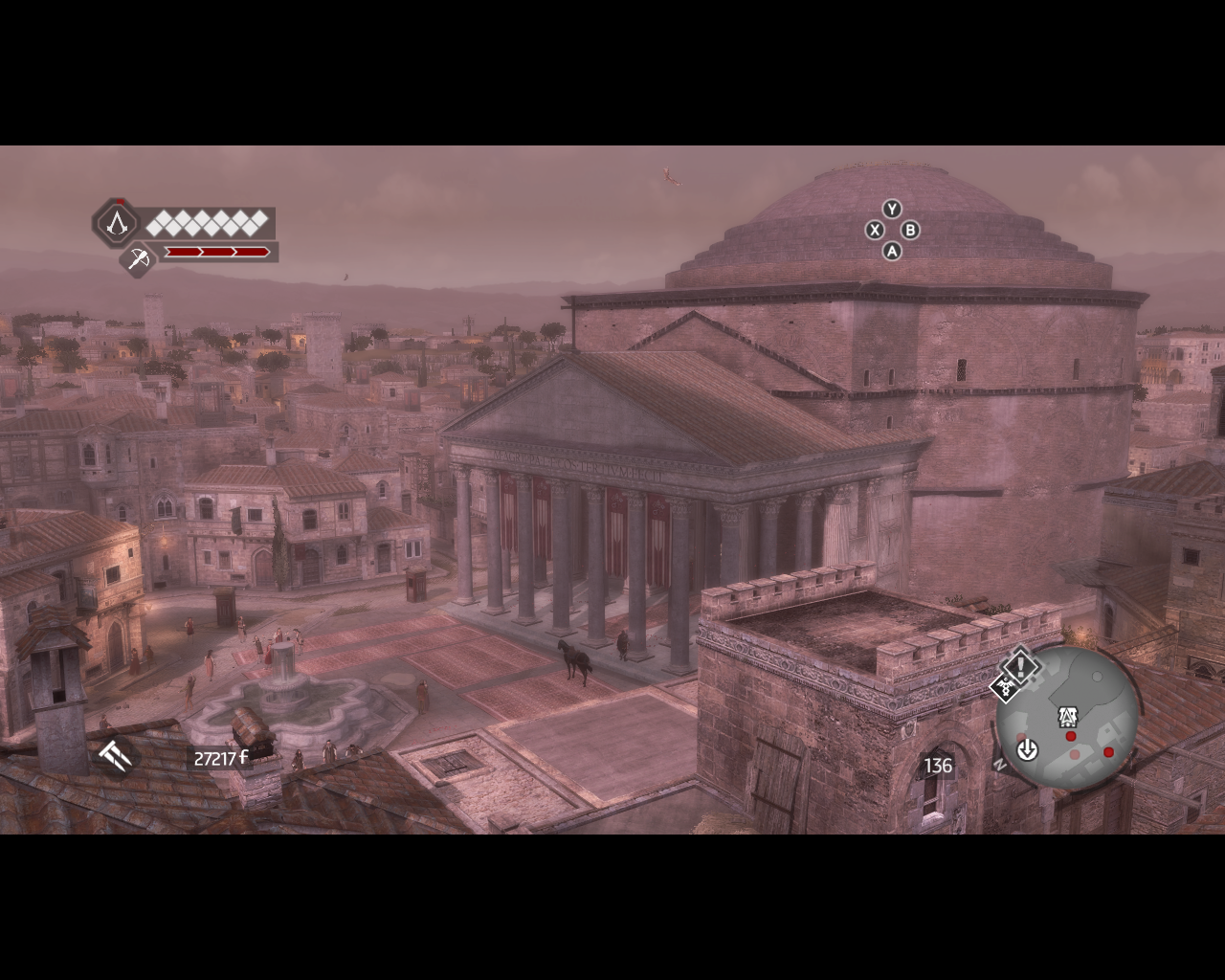 Assassin's Creed: Brotherhood Windows Ezio invests in Rome's economy buying buildings and upgrading the shops
