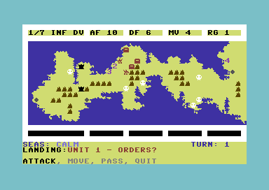 Operation Iceberg: The Battle for Okinawa Commodore 64 Giving orders.