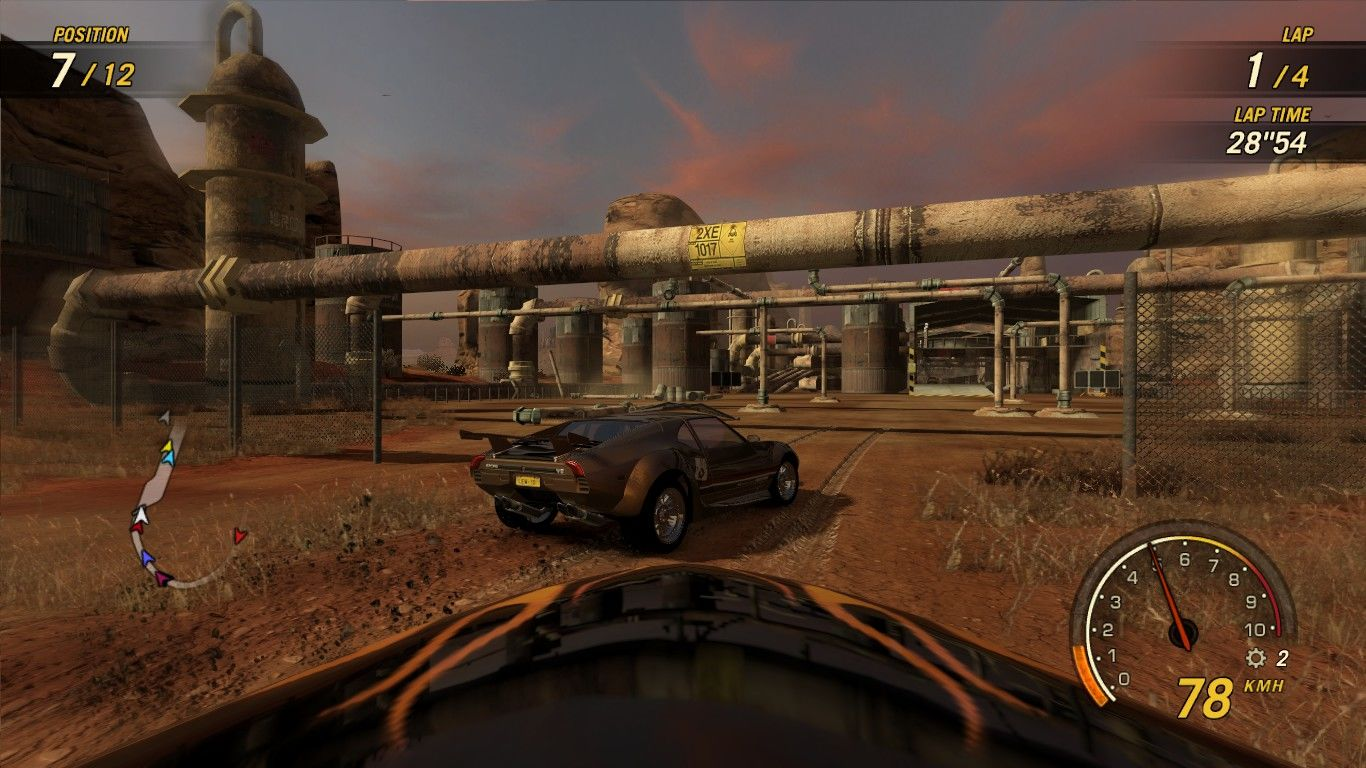 FlatOut: Ultimate Carnage Windows First person view.