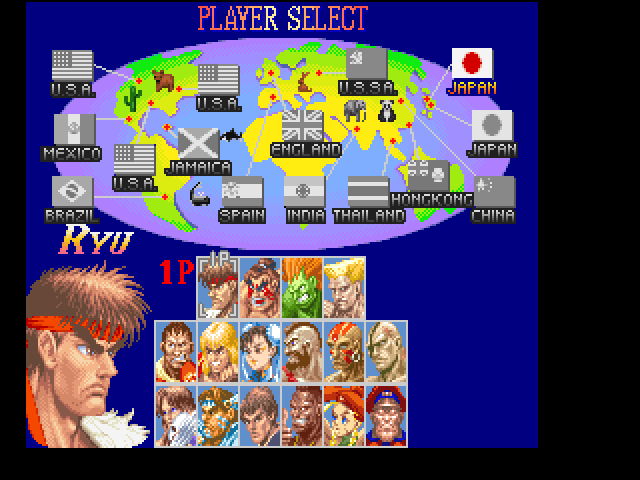 super street fighter 2 turbo character select