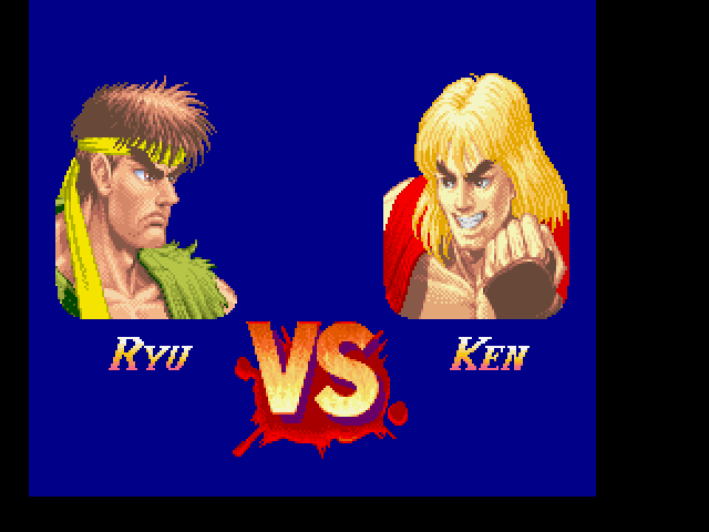 Super Street Fighter II FM Towns Famous match-up
