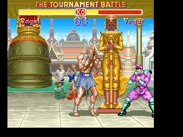 Super Street Fighter II FM Towns Don't mind the statues, hehe...