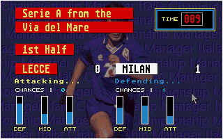 "Championship Manager Italia DOS ""Real time"" gameplay"