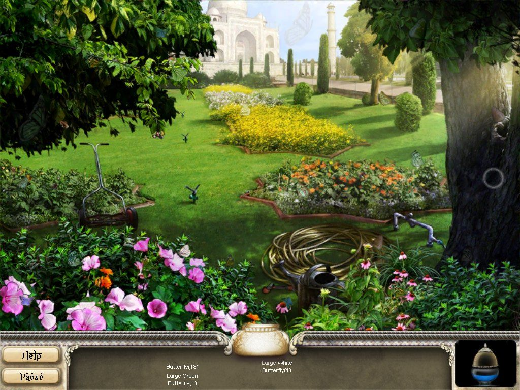 Romancing the Seven Wonders: Taj Mahal iPad Celestial Pool Garden - objects