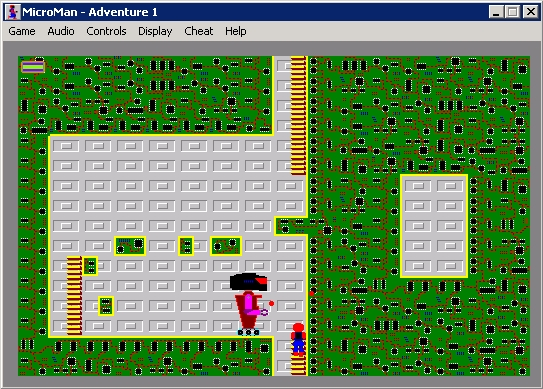 The Adventures of MicroMan Windows Adventure 1: game play.