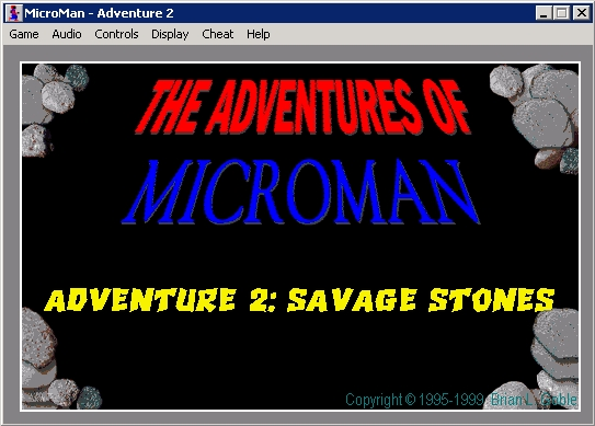 The Adventures of MicroMan Windows Adventure 2: title/splash screen 1.