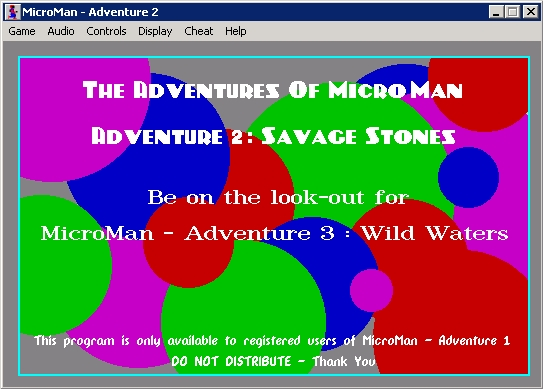 The Adventures of MicroMan Windows Adventure 2: title/splashscreen 2.