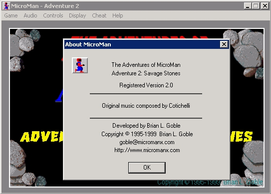The Adventures of MicroMan Windows Adventure 2: About MicroMan.