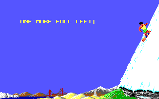 California Games II DOS One more fall left! (Downhill)