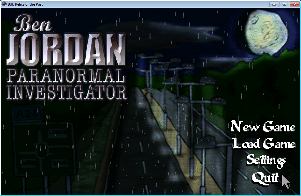 Ben Jordan: Paranormal Investigator Case 8 - Relics of the Past Windows Main menu