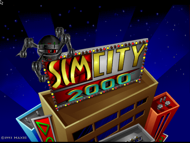 SimCity 2000 FM Towns Title screen