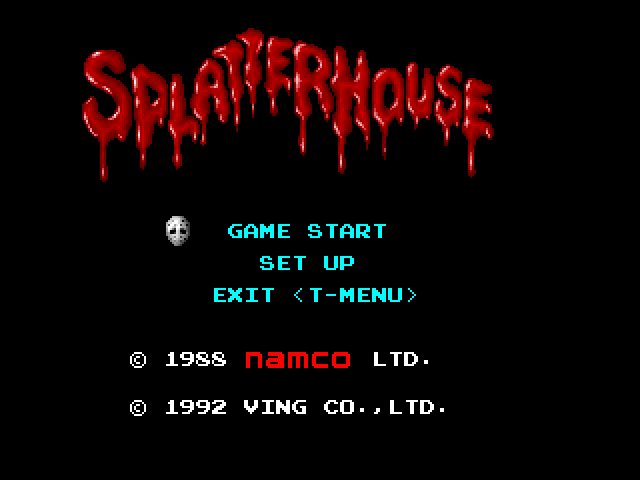 Splatterhouse FM Towns Title screen