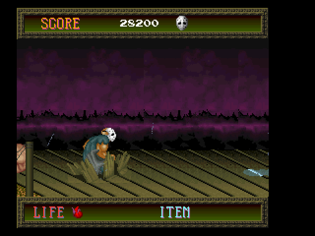 Splatterhouse FM Towns You fell into a deadly trap