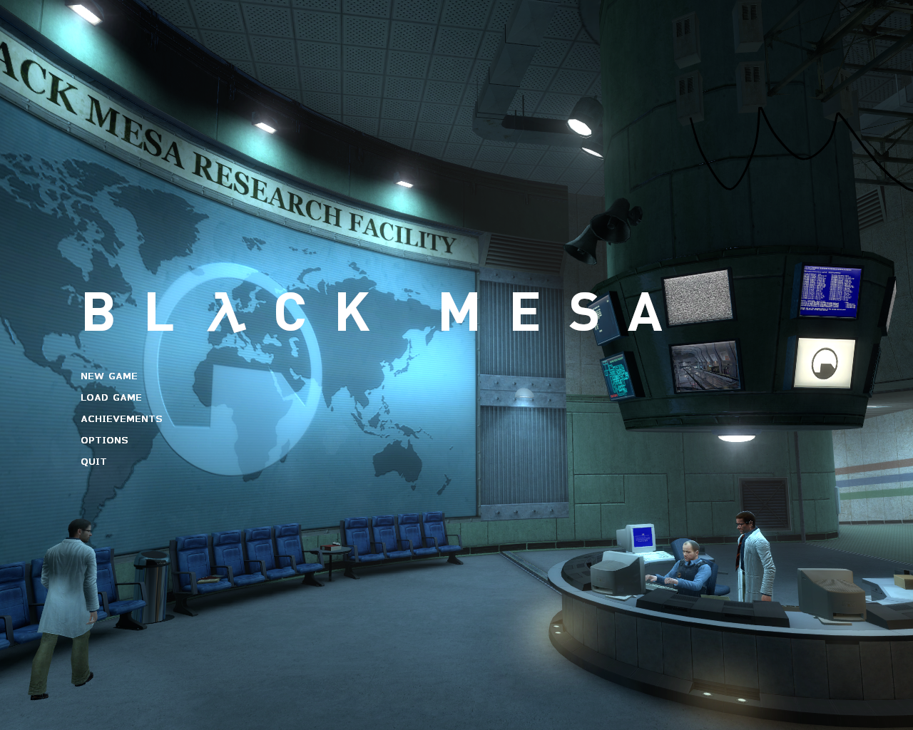 Black Mesa Windows Title screen and main menu