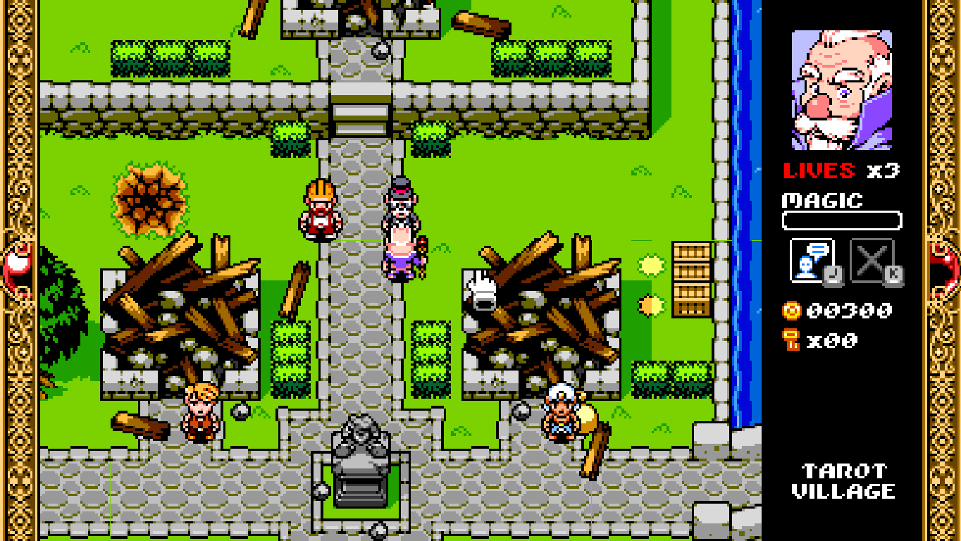 Wizorb Windows The town is completely destroyed. Here you can talk to different characters, but they all need your money.