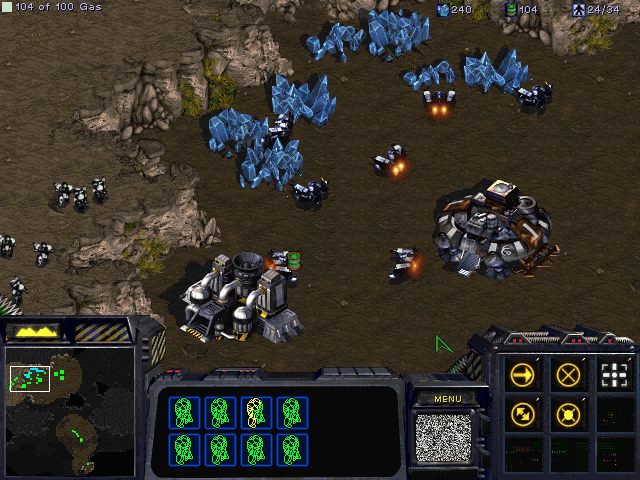 StarCraft (Demo Version) Windows The tutorial mission is basically the same as in the retail game but uses a different map.