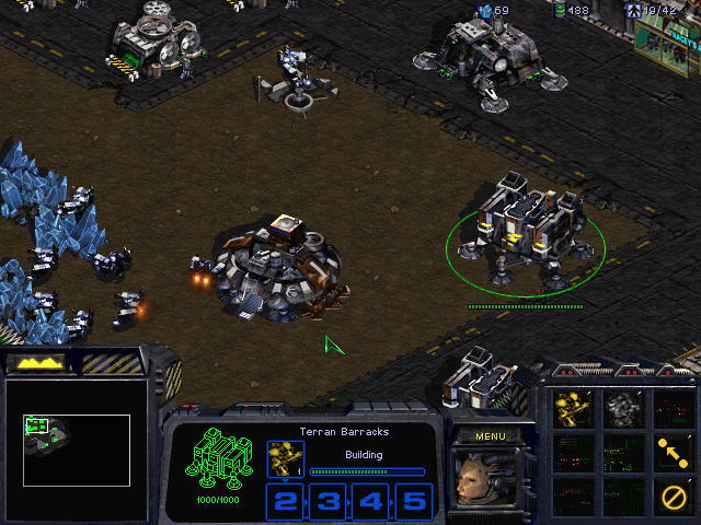 StarCraft (Demo Version) Windows Confederate Alpha Squadron staging area on Chau Sara.