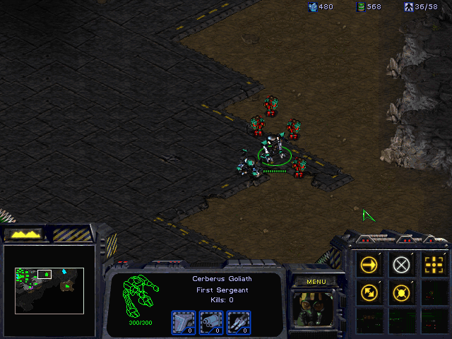 StarCraft (Demo Version) Windows Cerberus units are more powerful than their regular counterparts.