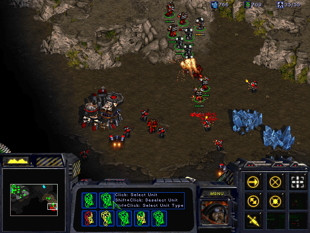 StarCraft (Demo Version) Windows An attack on the Sons of Korhal base.