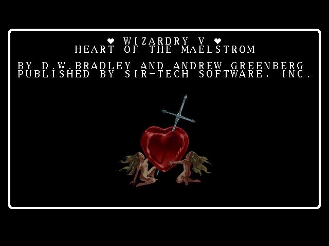 Wizardry V: Heart of the Maelstrom FM Towns Title screen