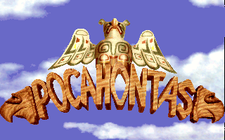 Pocahontas DOS Title screen