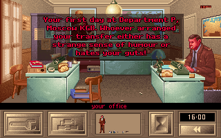 KGB DOS You start at your crampy little office with your crampy little comrade boss...