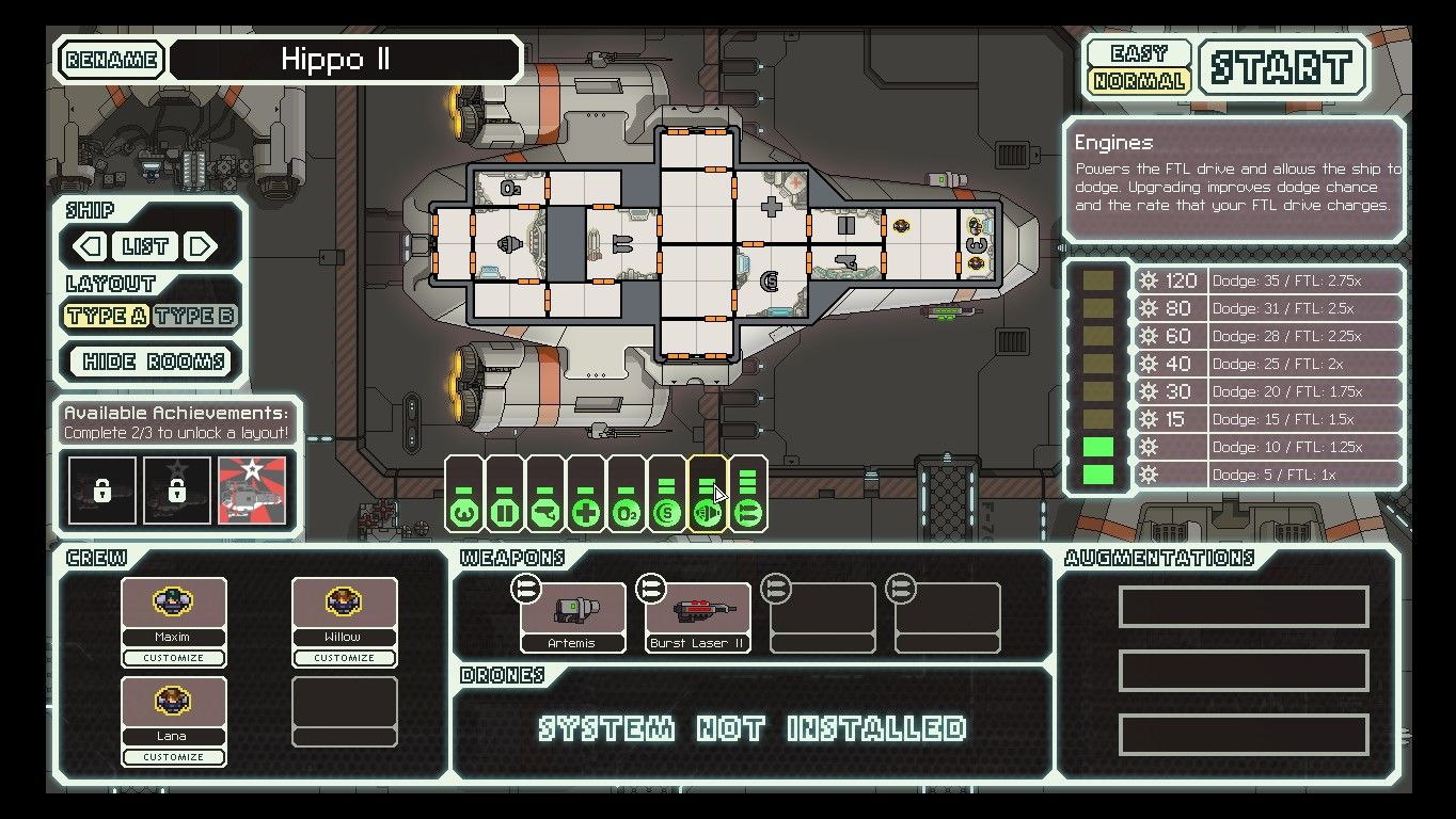 FTL: Faster Than Light Windows Beginning the game with the default Kestrel Cruiser. A ship without any special traits but no real weaknesses.