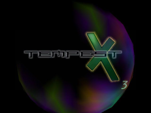 Tempest X3 PlayStation The title screen. A bit of an understatement compared to the Jaguar version...