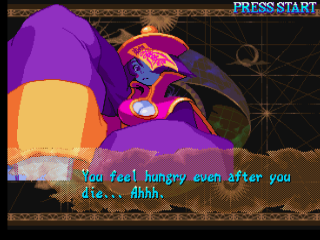 Darkstalkers 3 PlayStation Hsien-Ko wins