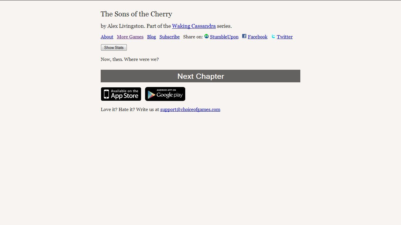 The Sons of the Cherry Browser I have no guess.