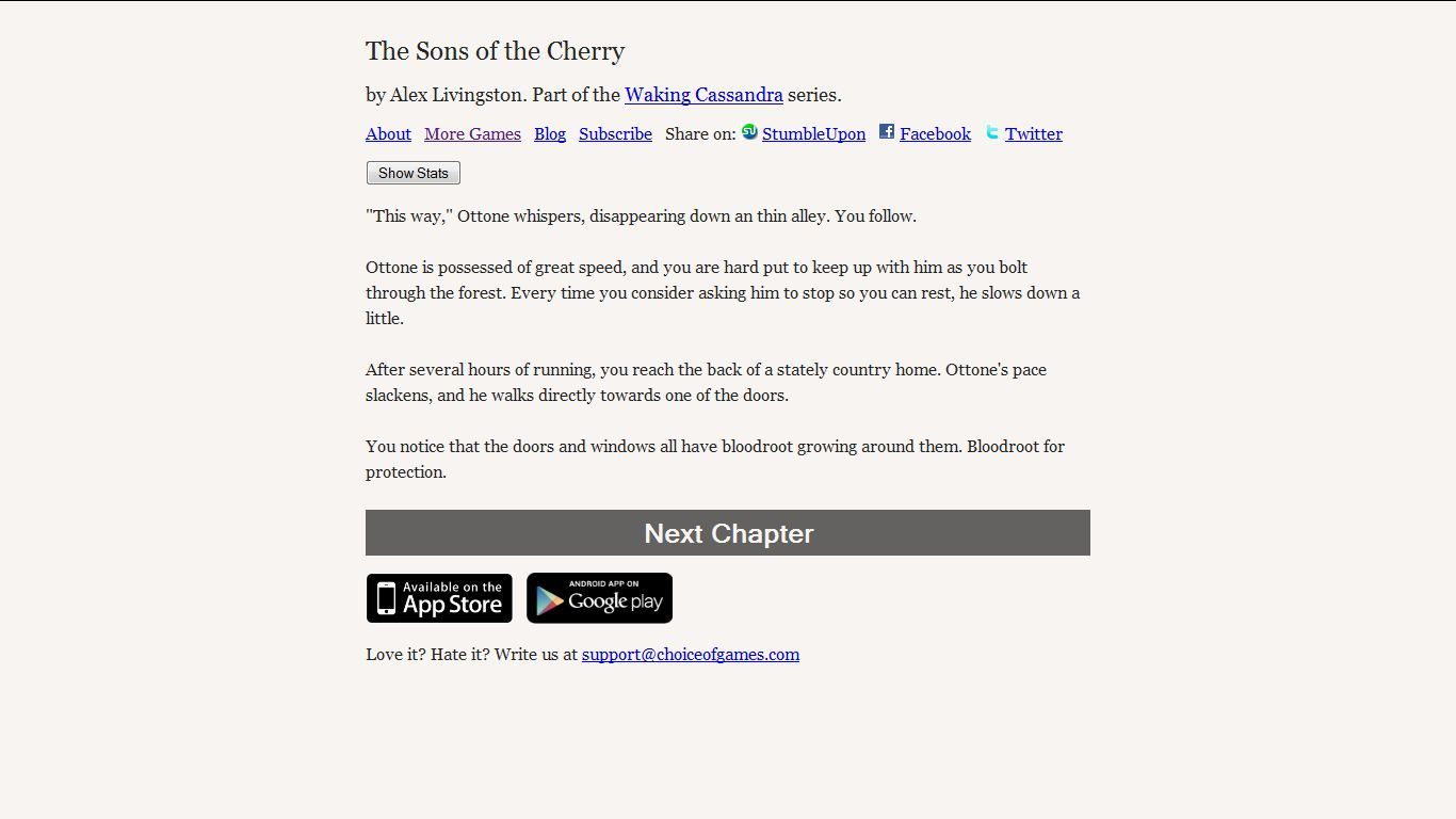 The Sons of the Cherry Browser The story continues...