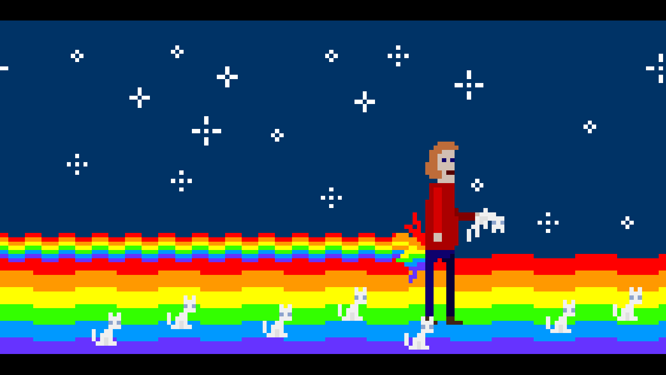 McPixel Windows A Nyan Cat tribute