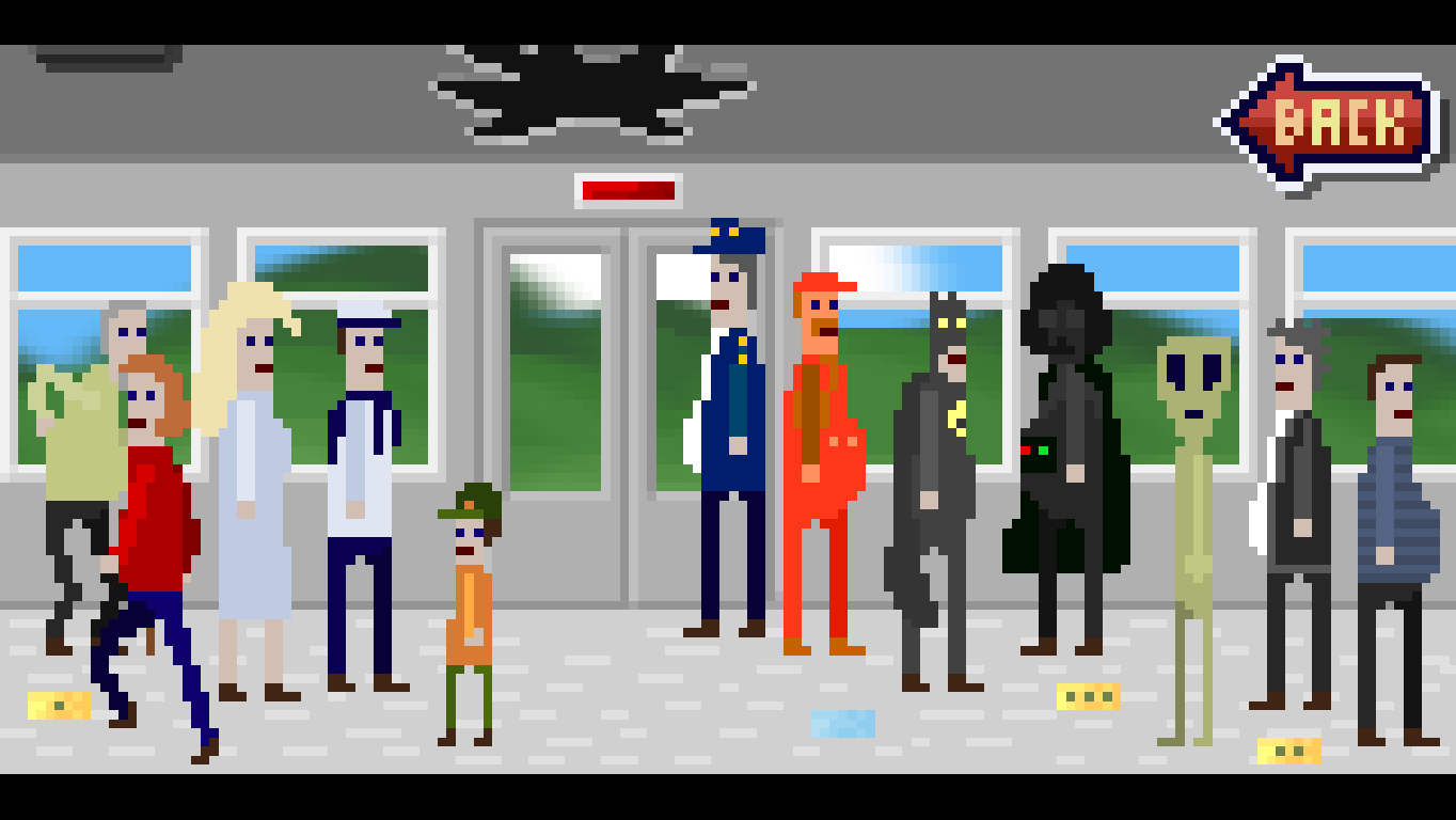 McPixel Windows In the train of the third chapter.