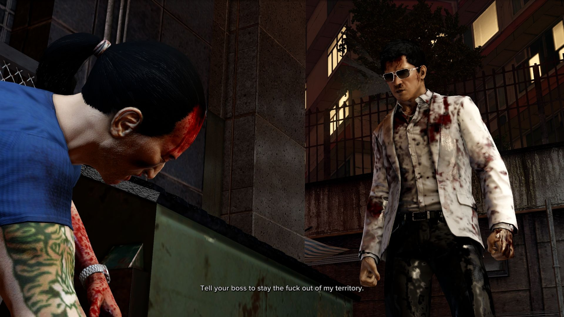 Sleeping Dogs Windows Cutscene.