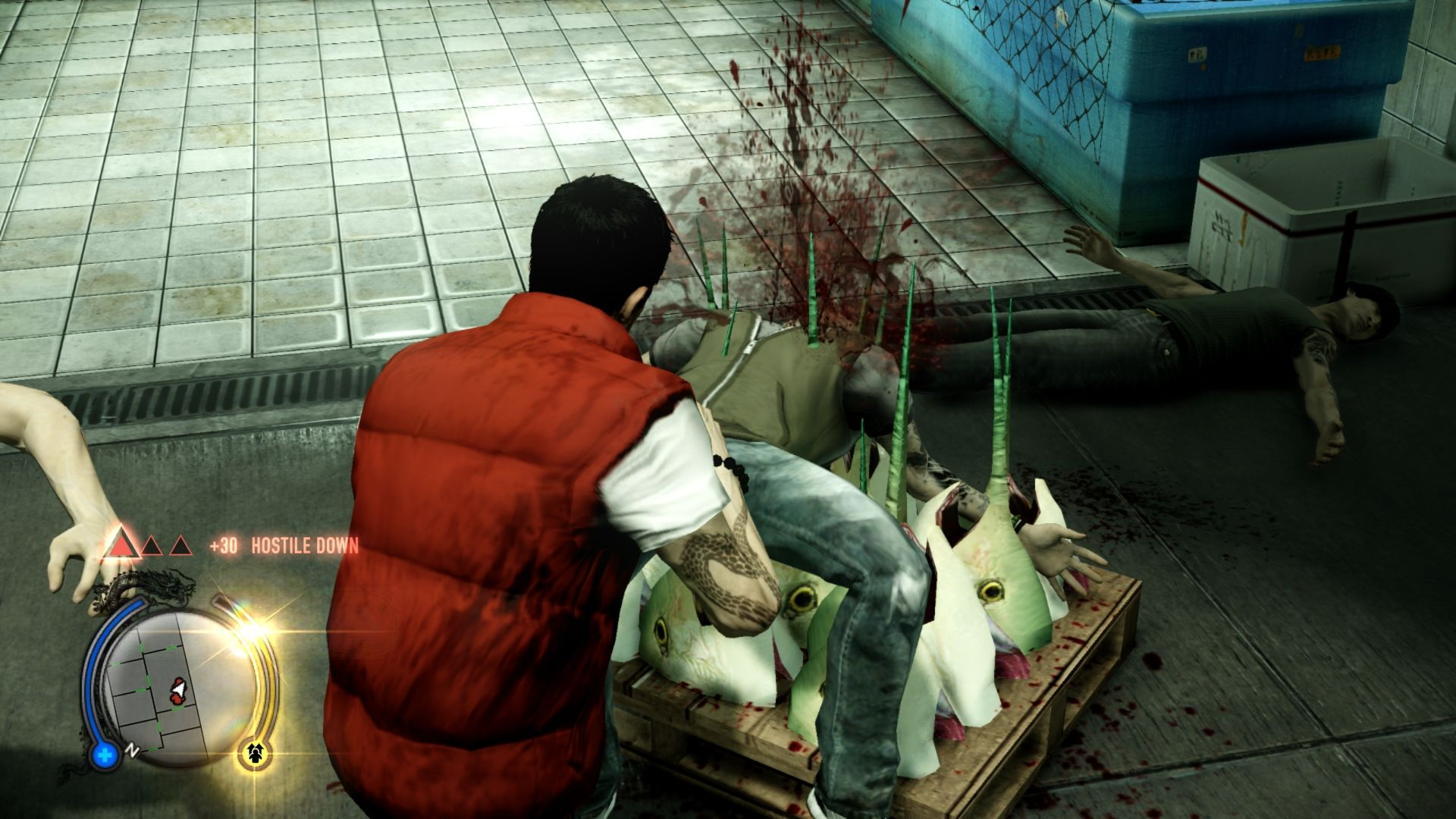 Sleeping Dogs Windows An environmental finishing move, but not the most gruesome.