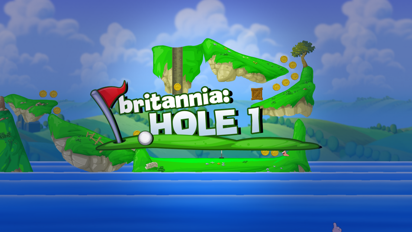 Worms Crazy Golf Windows Starting the first hole.