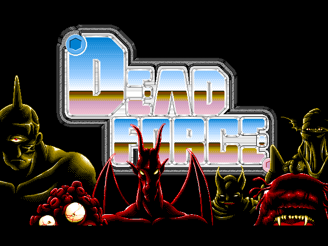 Dead Force FM Towns Title screen