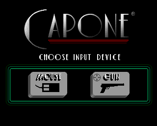 Capone Amiga Choose between mouse steering and light-gun