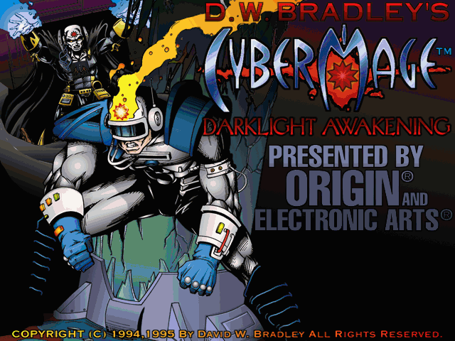 CyberMage: Darklight Awakening (Demo Version) DOS Title screen (SVGA)