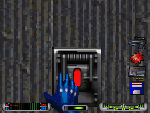 CyberMage: Darklight Awakening (Demo Version) DOS This button activates the elevator.