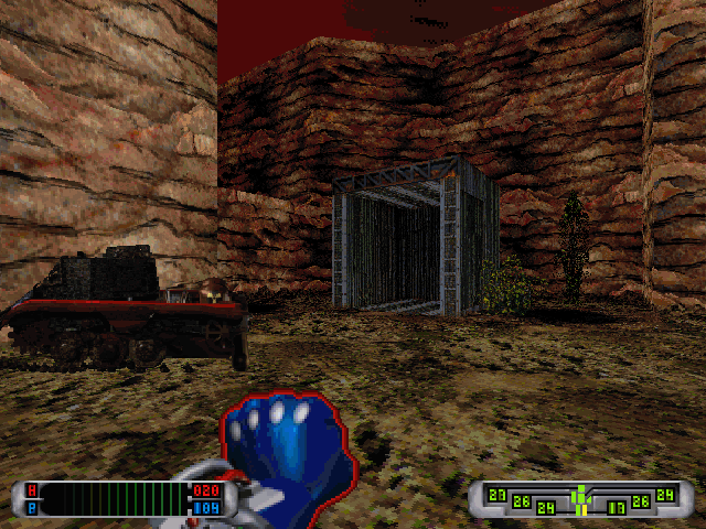 CyberMage: Darklight Awakening (Demo Version) DOS Eventually, the enemy tank is dealt away with.