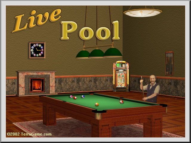 Live Pool Windows The game's title screen