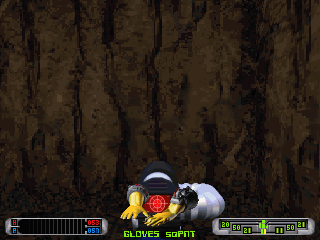 CyberMage: Darklight Awakening (Demo Version) DOS Found a piece of armour in a hideout. There's a rather complex system of locational damage, and different armour pieces cover different parts of the body (VGA).